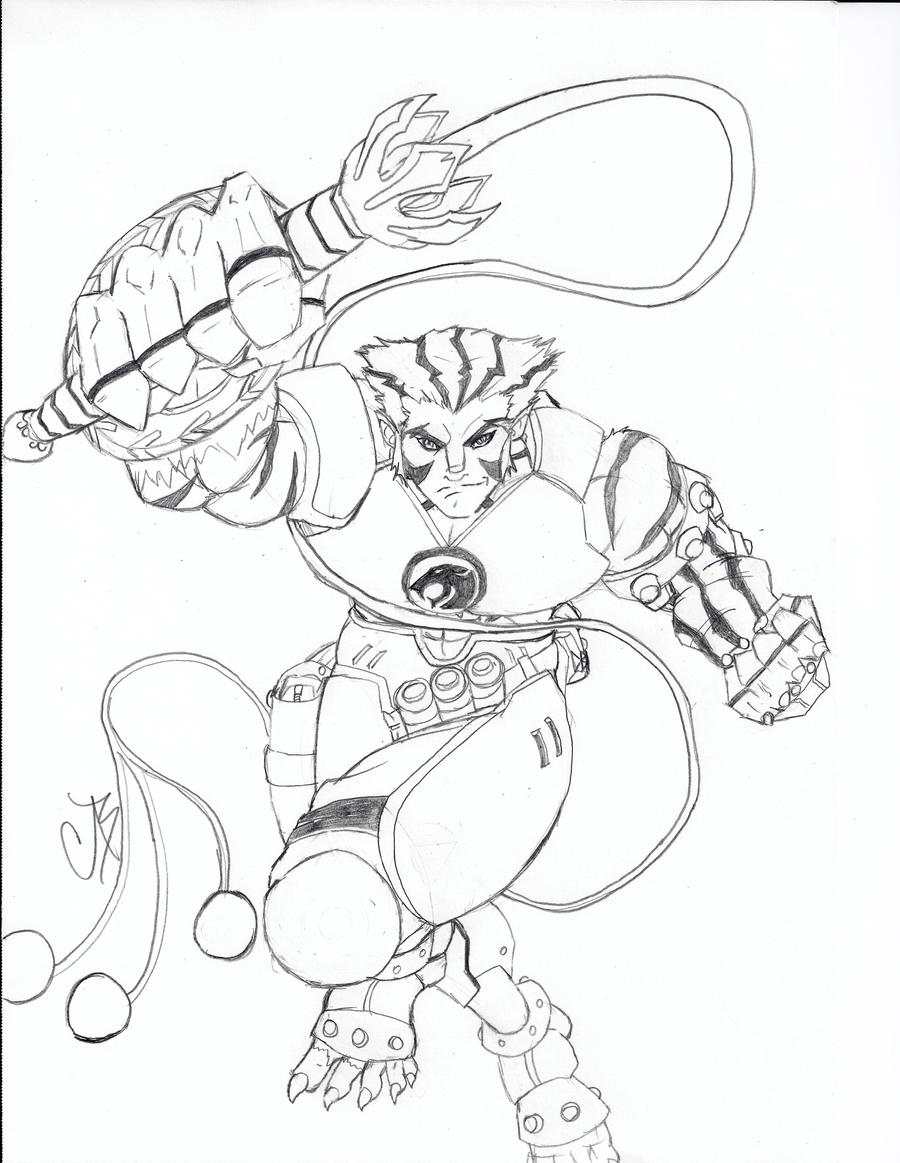 tygra thundercats 2011 by blix007 tygra thundercats 2011 by blix007 - Thunder Cats Coloring Book Pages