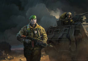 Border Guards - checkpoint by Noldofinve