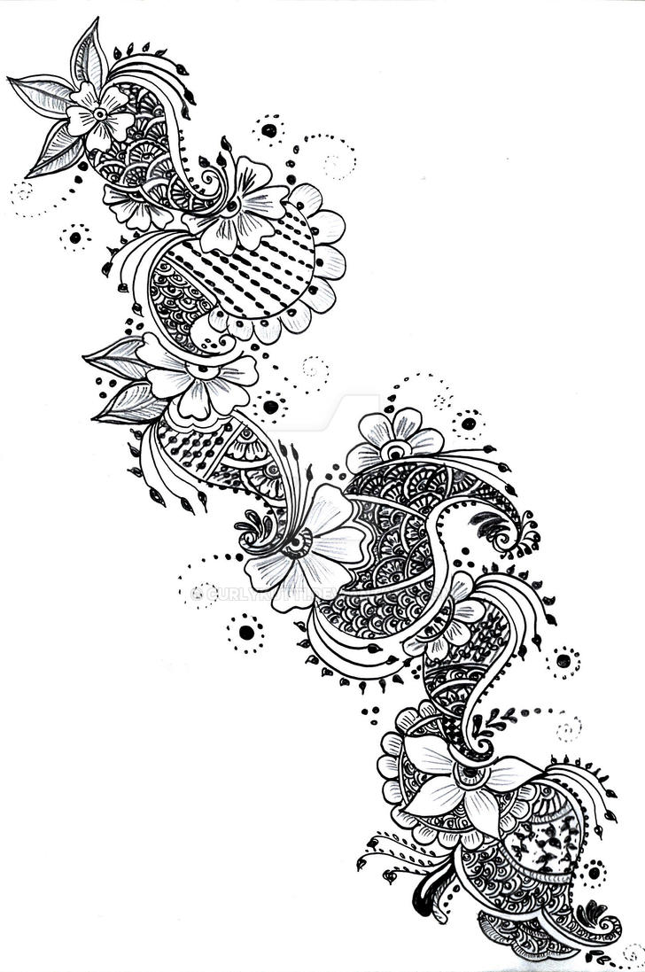 Henna Drawings: 1 By Curlykutti On DeviantArt