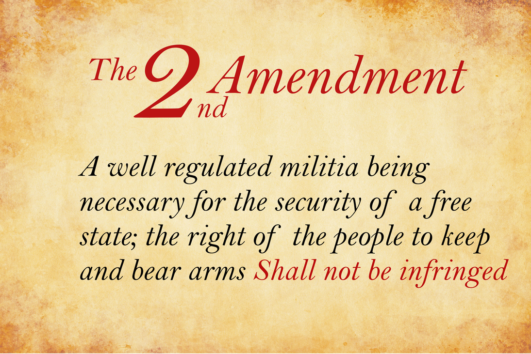 the second amendment Amendment i freedom of religion, speech, press, assembly, and petition amendment ii right to bear arms first, the statute must have a secular legislative purpose second, its principal or primary effect must be one that neither advances nor inhibits religion.