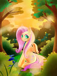 Fluttershy in the Sunset forest