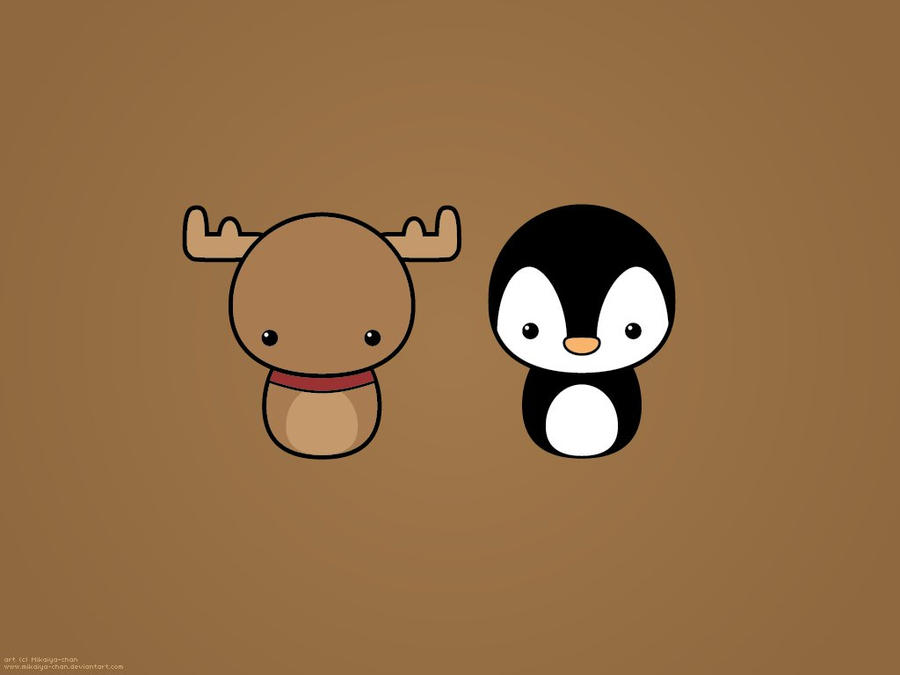 Wallpaper Tonakai And Penguin By Maarui