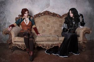 Yennefer and Triss - Ice and Fire by ver1sa