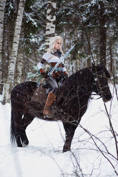 The Witcher cosplay - Ciri and Kelpie