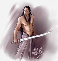 Elven sketch 5 by MellorianJ