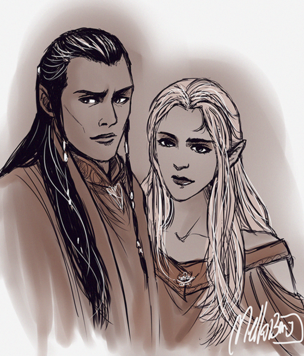 Elven Sketch 6 by MellorianJ