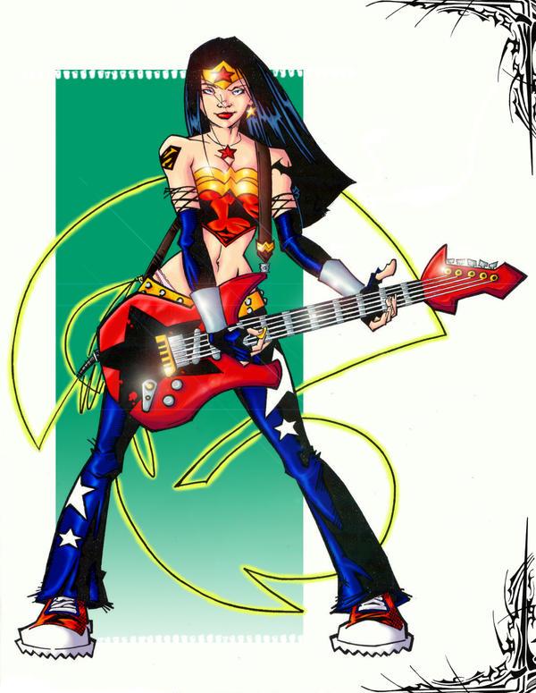 rock n roll wonder woman by jam-bad