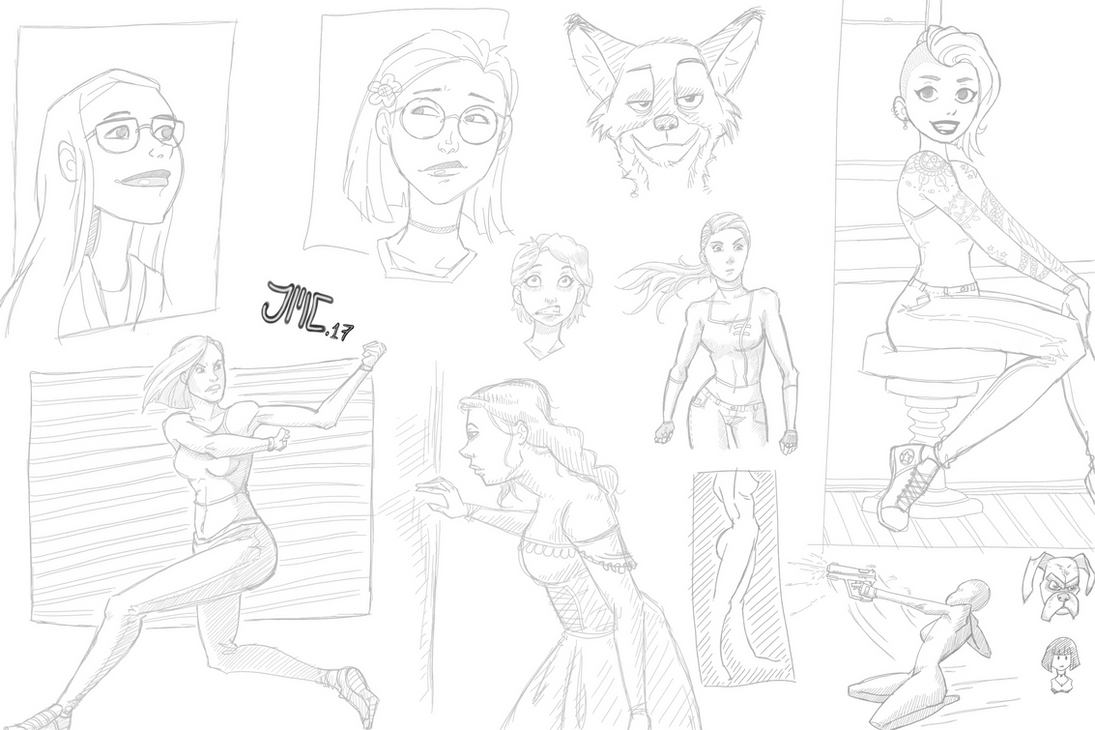 Sketch Dump 3 by jam-bad