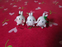Three Kawaii Molangs :) by LilacSprinkles