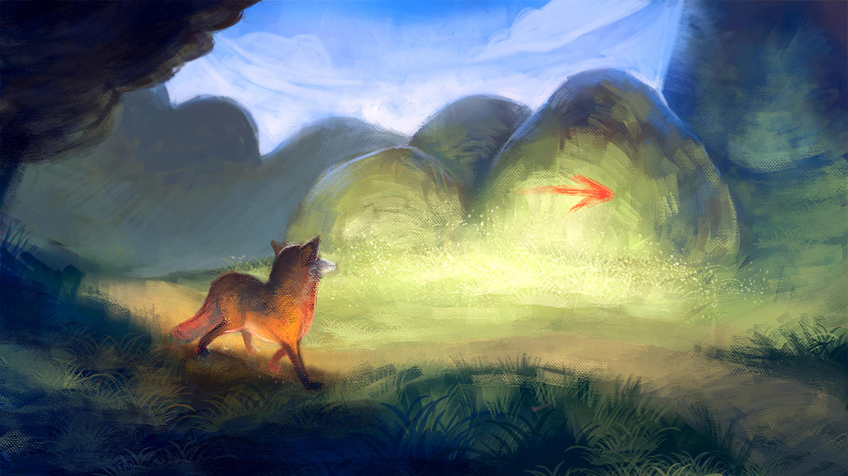 Fox trail by cleverdisguise