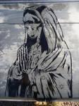 La Santa Muerte Stencil by MissFord66