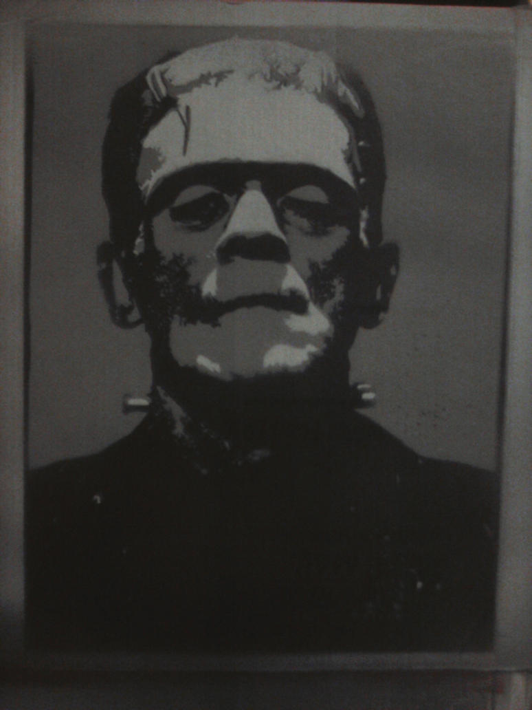 frankenstein profile stencil wwwimgkidcom the image