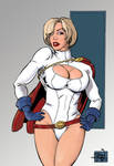 Power Girl sketch colored