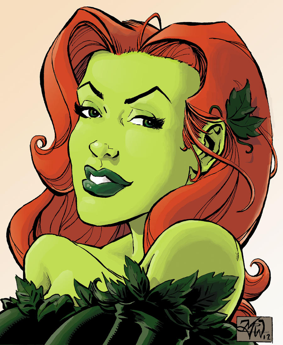 Poison Ivy bust sketch by RougeDK