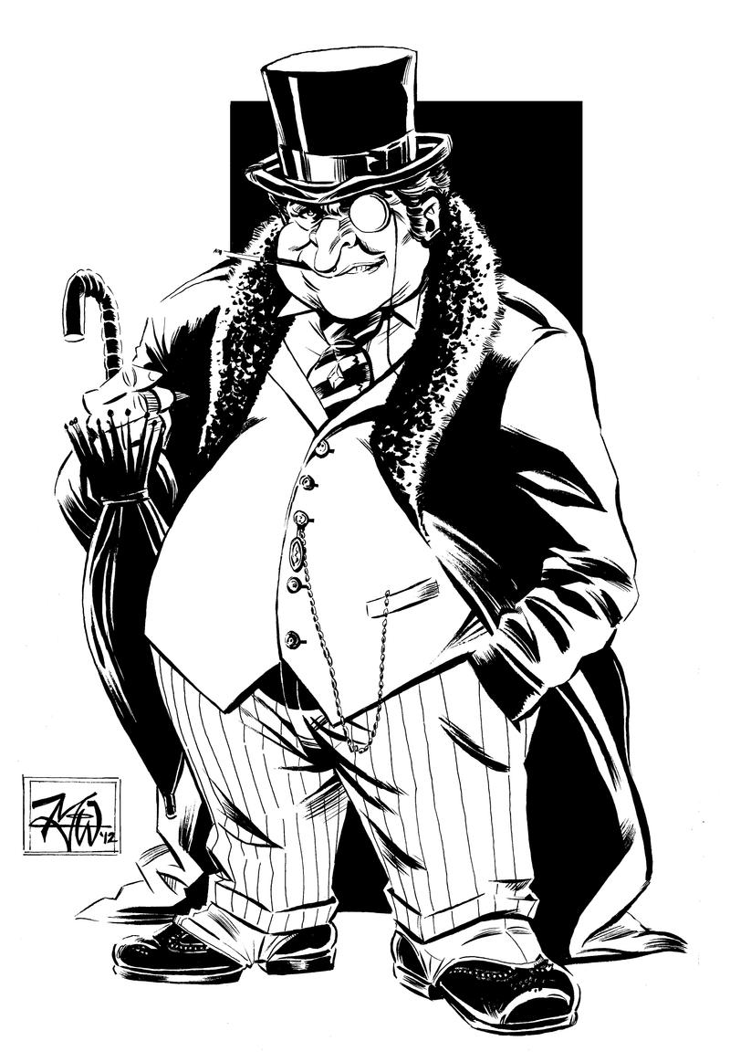 The Penguin ink sketch by RougeDK on DeviantArt