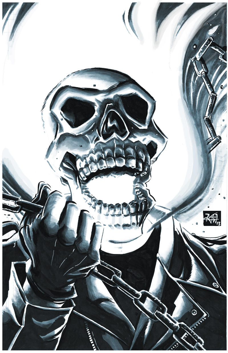 Ghost Rider headshot by RougeDK