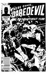 Commission Daredevil mock cover sketch by RougeDK