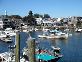 Rockport Harbor by LinaraQ