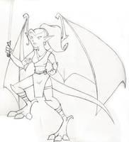 Gargoyle Jedi by LinaraQ