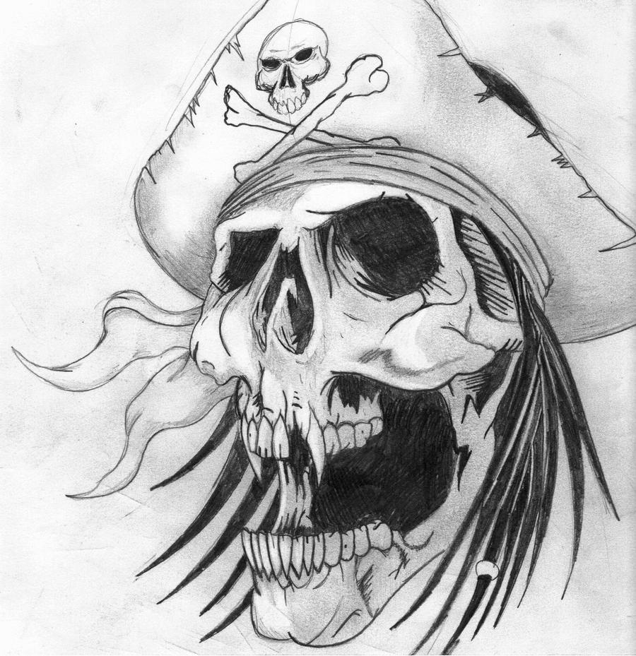 Pirate skull by Twizted-Thomas