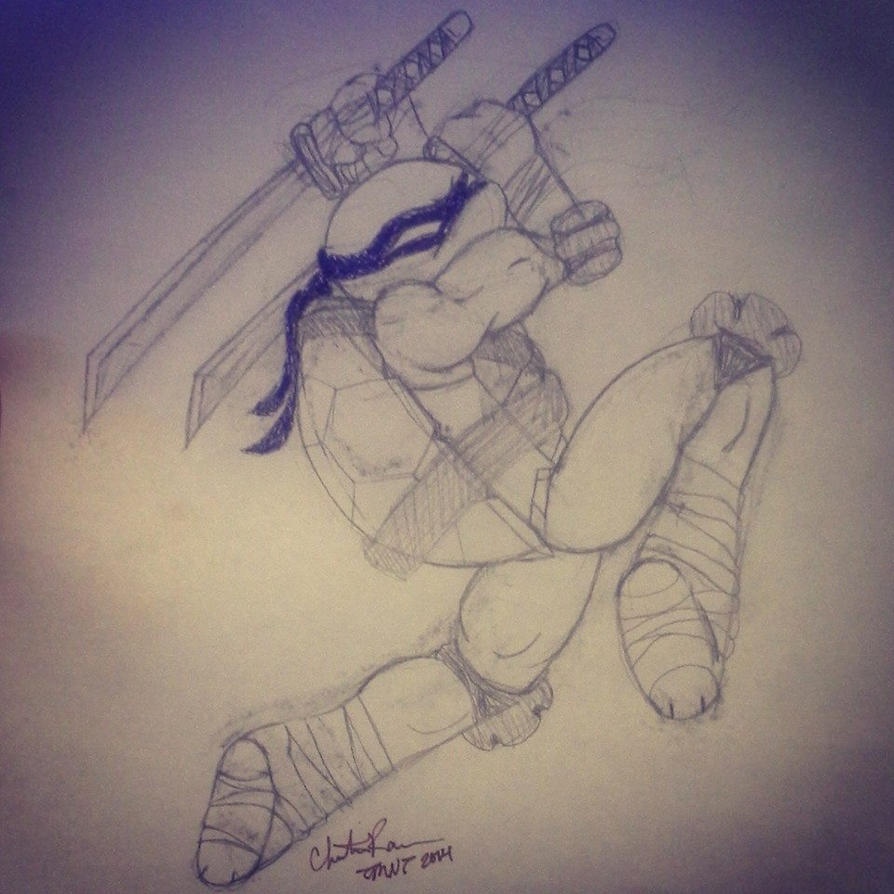Leonardo 'Swing Fast, Swing Hard' by YoruichiNyow