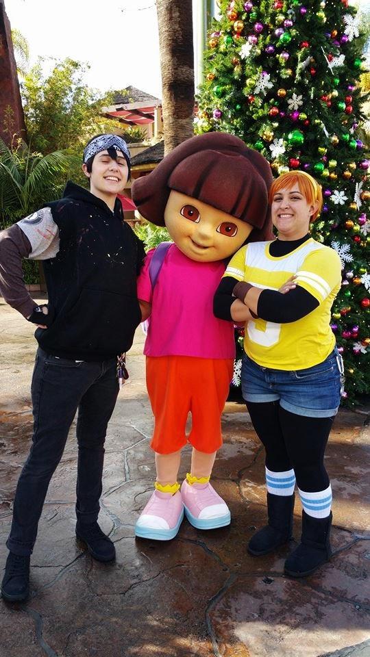 Casey and April meet Dora
