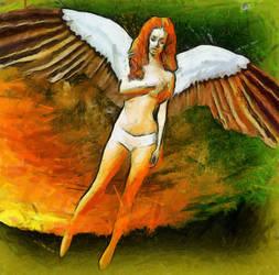 Sad Angel by maxxparis