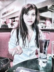 Girl in Cafe.