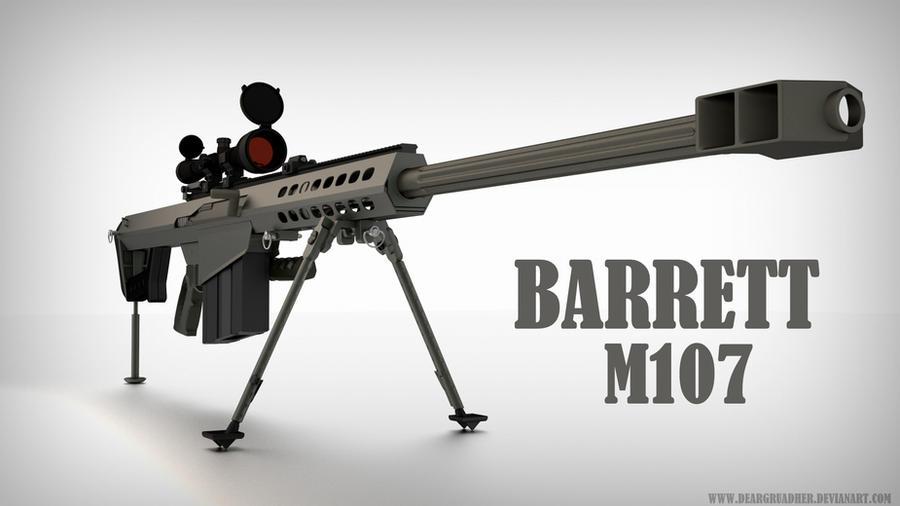 Barrett M107 Heavy Caliber Anti Material Anti Personnel Sniper Rifle
