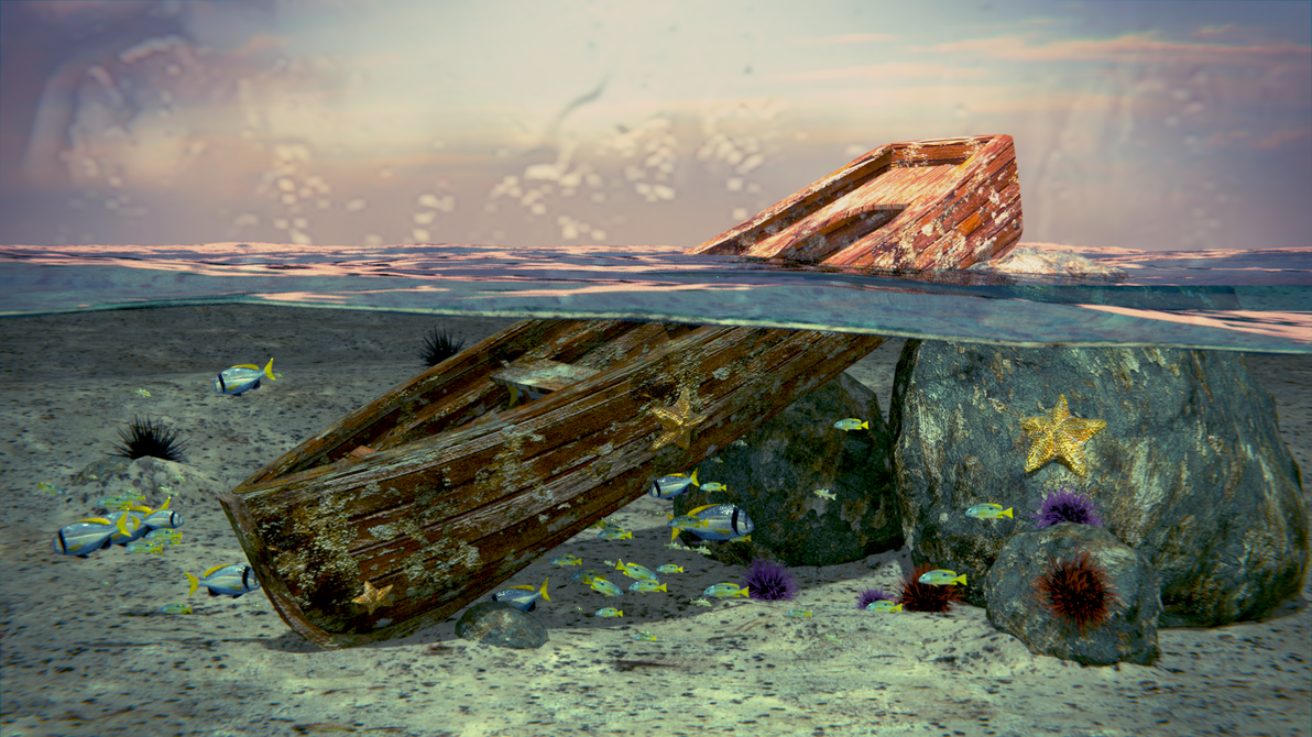 Old boat by deargruadher on deviantart for What to do with an old boat