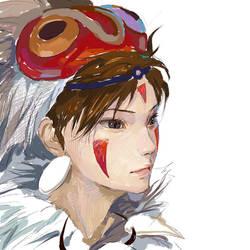 Princess Mononoke by amatizking