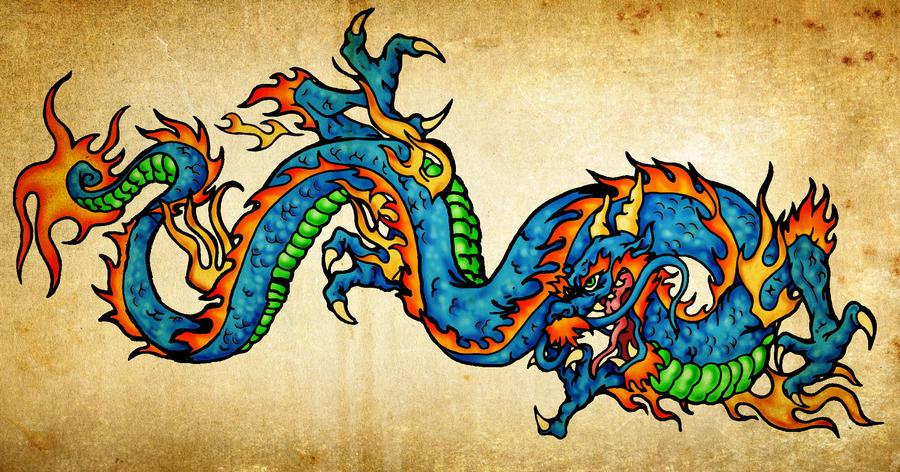 Chinese Dragon Tattoo By Vicrosman On Deviantart