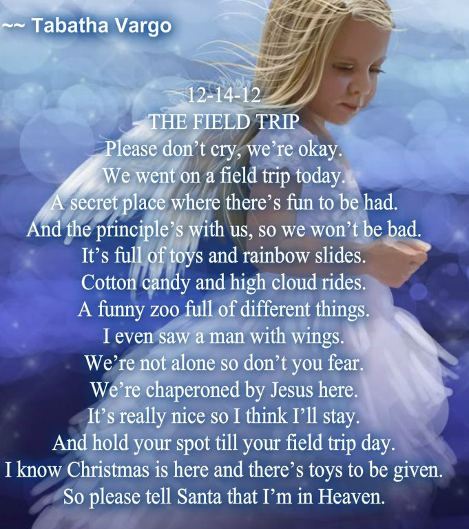 The Field Trip. By: Tabatha Vargo (Sandy Hook) by Bookgeekandlovingit