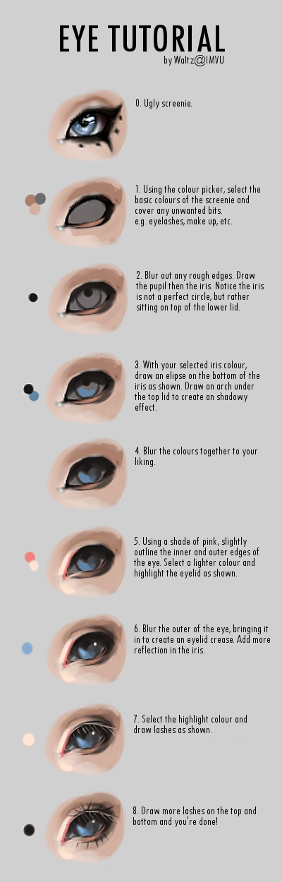 Eye Tutorial by IMVUWaltz