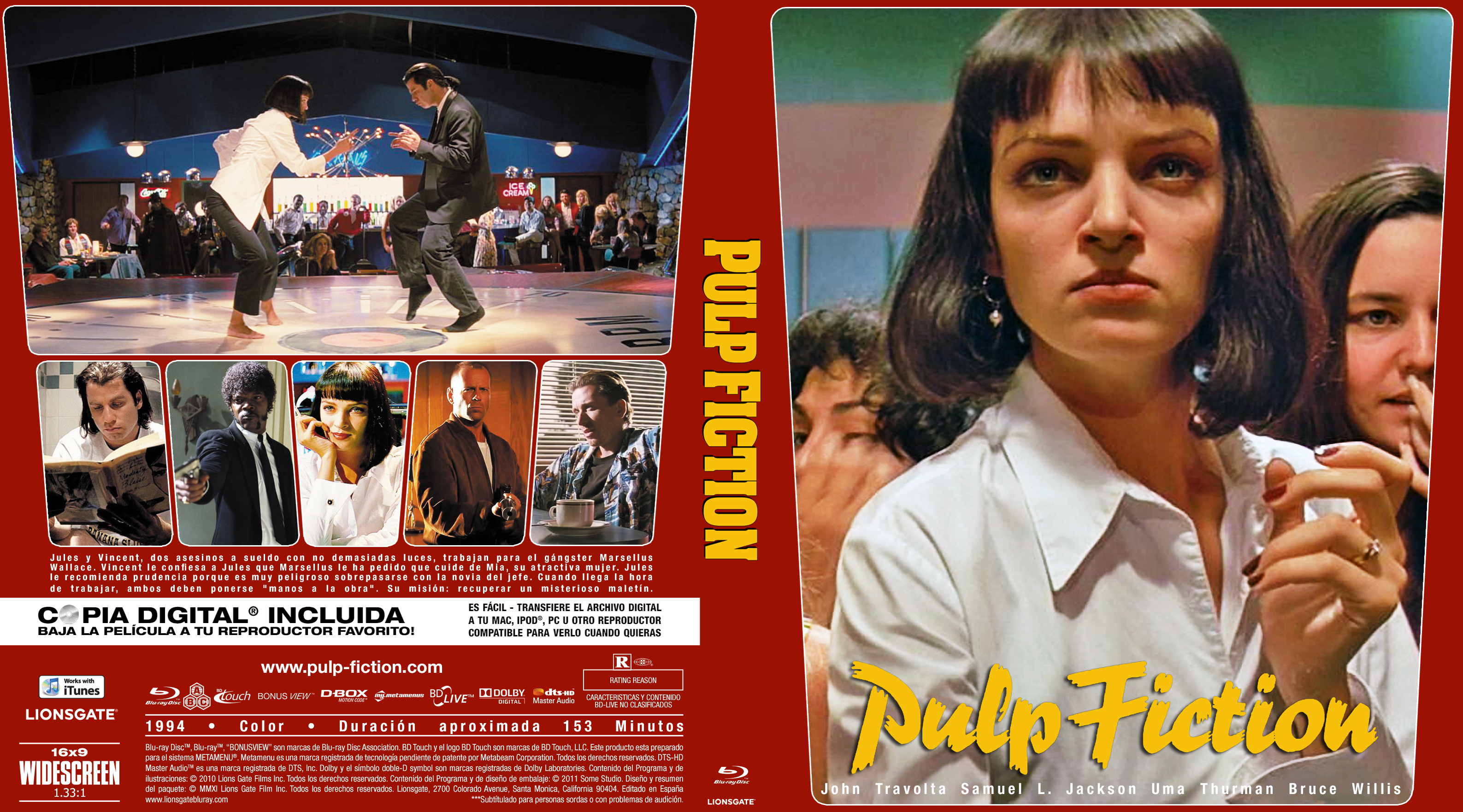 Pulp Fiction 1994 Cover Red Bluray By Nonsserviam On Deviantart