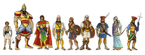 David and Goliath characters
