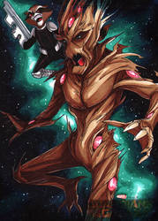 Rocket and Groot by CapnFlynn