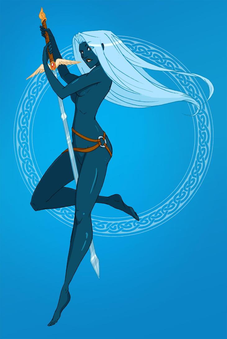Sword Girl Blue by CapnFlynn