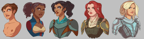 Human Ladies Bust Commissions by CapnFlynn