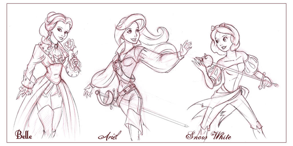 pirate princess coloring pages - disney pirate princesses i by capnflynn on deviantart