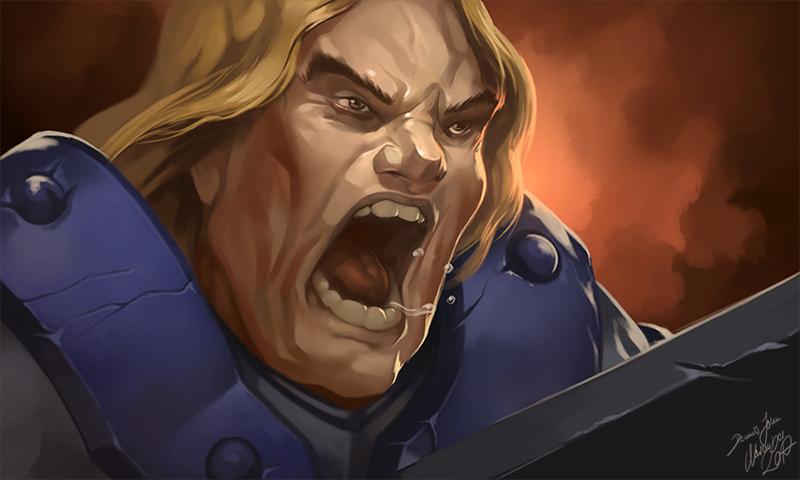 Arthas Rage Fanart by JB-Charakterdesign