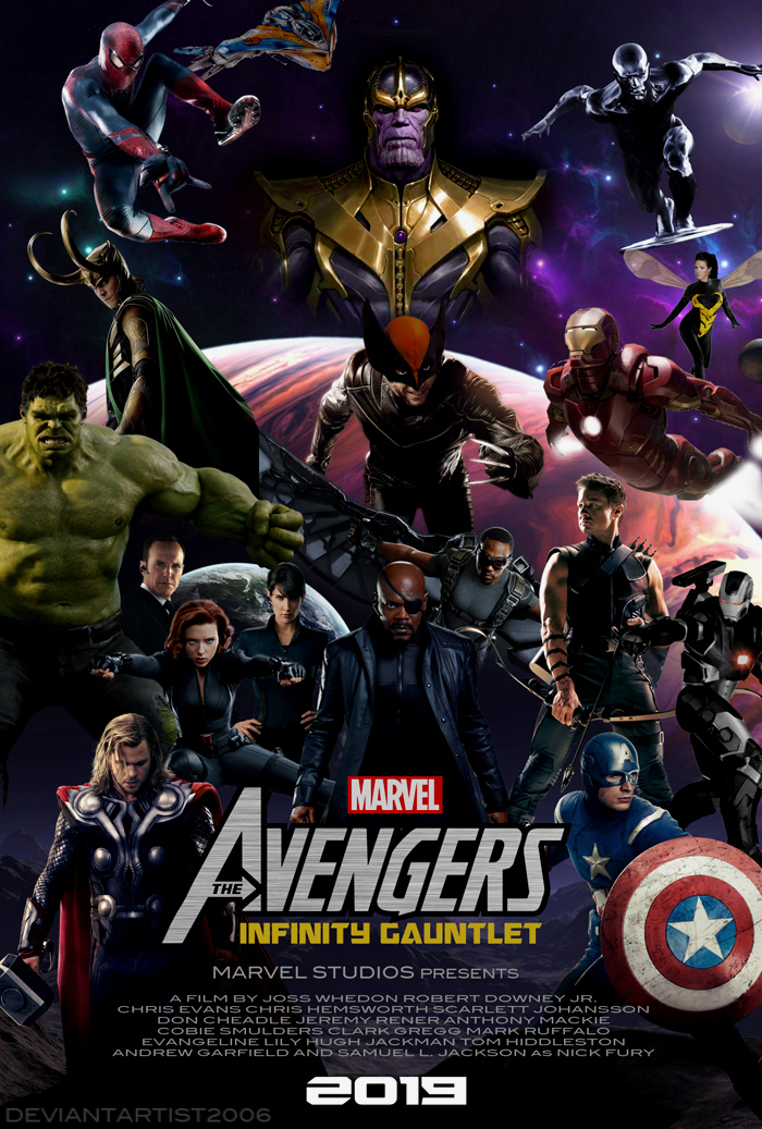 The Avengers Infinity Gauntlet Movie Poster by