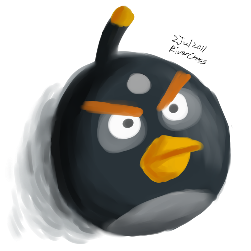 Black Angry Bird by RiverKpocc on DeviantArt