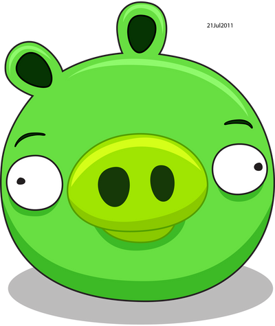 The Green Pig by RiverKpocc