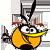 Orange bird icon
