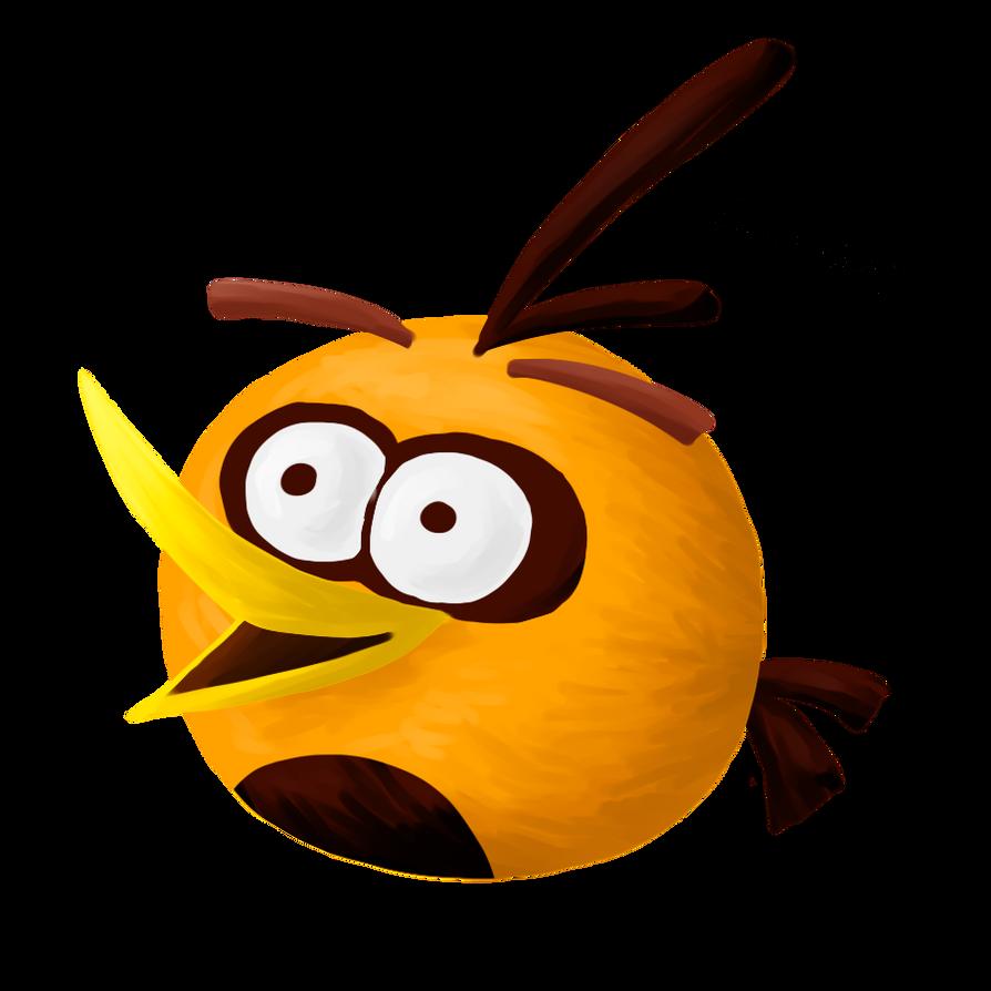 Angry orange bi...