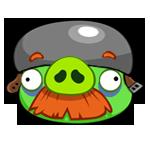 Helmet Mustache Pig