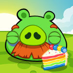 He got the colourful cake