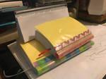 Handmade notebooks with straw pen holders