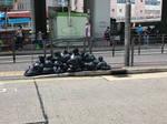 Rubbish bags wall